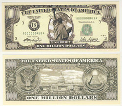 HUMORISTIC BILLS -  UNITED STATES ONE MILLION DOLLARS BILL