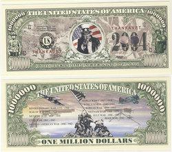 HUMORISTIC BILLS -  VETERANS (UNCLE SAM) - UNITED STATES ONE MILLION DOLLARS BILL