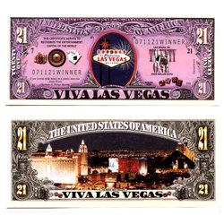 HUMORISTIC BILLS -  VIVA LAS VEGAS - UNITED STATES 21 DOLLARS BILL