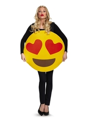 HUMORISTIC -  HEART EYES EMOTICON COSTUME (ADULT - ONE SIZE)