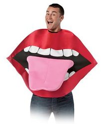 HUMORISTIC -  LIPS AND TONGUE COSTUME (ADULT - ONE SIZE)
