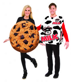 HUMORISTIC -  MILK AND COOKIE SET COSTUMES (ADULT - ONE SIZE)