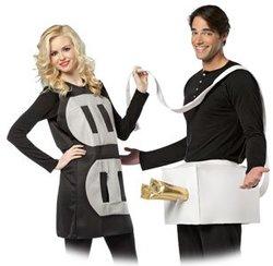 HUMORISTIC -  PLUG AND SOCKET COSTUME (ADULT - ONE-SIZE) -  COUPLE COSTUME