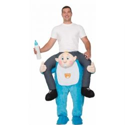 HUMORISTIC -  RIDE-A-BABY COSTUME (ADULT)