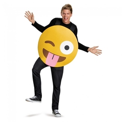 HUMORISTIC -  TONGUE OUT EMOTICON COSTUME (ADULT - ONE SIZE)