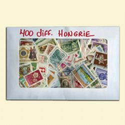 HUNGARY -  400 ASSORTED STAMPS - HUNGARY