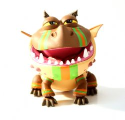 How to train your dragon -  Meatlug action vinyls - With racing stripes (6 inches)