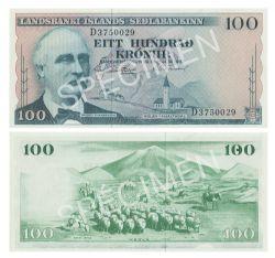 ICELAND -  100 KRONUR 1957 (UNC)