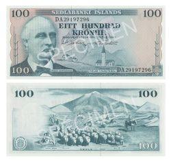 ICELAND -  100 KRONUR 1961 (UNC)