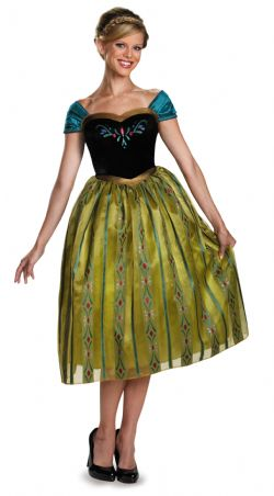 INCLUDES: FROZEN -  ANNA CORONNATION DELUXE COSTUME (ADULT) -  DISNEY'S PRINCESSES