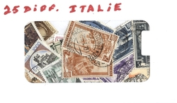 ITALY -  25 ASSORTED STAMPS - ITALY