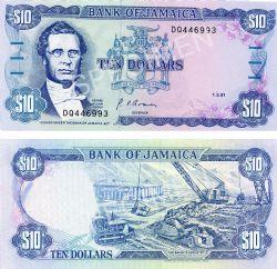 JAMAICA -  10 DOLLARS 1991 (UNC)