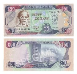 JAMAICA -  50 DOLLARS 2010 (UNC) - COMMEMORATIVE NOTE