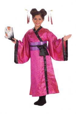 JAPAN -  GEISHA DRESS - (CHILD - SMALL 4-6)
