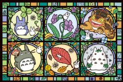 JIGSAW PUZZLE -  ARTCRYSTAL PUZZLE - STAINED GLASS STYLE (1000 PIECES) -  MY NEIGHBOR TOTORO
