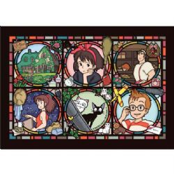 JIGSAW PUZZLE -  ARTCRYSTAL PUZZLE - STAINED GLASS STYLE (208 PIECES) -  KIKI'S DELIVERY SERVICE