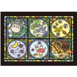 JIGSAW PUZZLE -  ARTCRYSTAL PUZZLE - STAINED GLASS STYLE (208 PIECES) -  MY NEIGHBOR TOTORO
