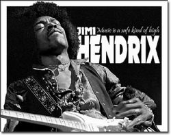 JIMI HENDRIX -  METAL POSTER