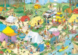 JUMBO -  CAMPING IN THE FOREST (2000 PIECES) -  JAN VAN HAASTEREN