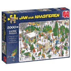 JUMBO -  CHRISTMAS TREE MARKET (2000 PIECES) -  JAN VAN HAASTEREN