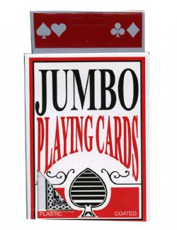 JUMBO PLAYING CARDS - BLACK BACK