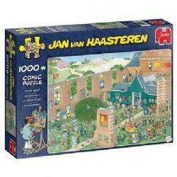 JUMBO -  THE ART MARKET (1000 PIECES) -  JAN VAN HAASTEREN