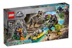 JURASSIC WORLD -  T.REX VS DINO-MECH BATTLE (716 PIECES) 75938