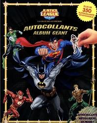 JUSTICE LEAGUE -  AUTOCOLLANTS - ALBUM GÉANT
