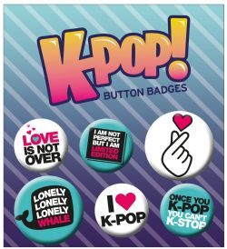 K-POP -  SET OF 6 PINS