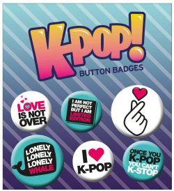K-POP -  SET OF 6 PINS