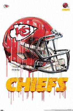 KANSAS CITY CHIEFS -  NFL KANSAS CITY CHIEFS - DRIP HELMET 2020-POSTER