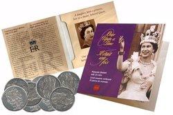 KEEPSAKE BOOKLET OF GOLDEN JUBILEE OF THE QUEEN ELIZABETH II -  2002 CANADIAN COINS