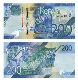 KENYA -  200 SHILLINGS 2019 (UNC)