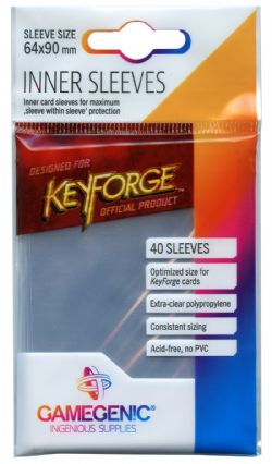 KEYFORGE -  INNER SLEEVES - BLACK (66 X 92MM)