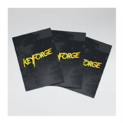 KEYFORGE -  LOGO SLEEVES - BLACK (66 X 92MM)