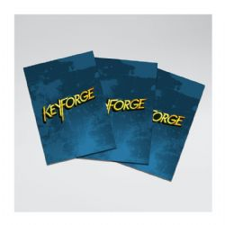 KEYFORGE -  LOGO SLEEVES - BLUE (66 X 92MM)