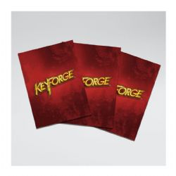 KEYFORGE -  LOGO SLEEVES - RED (66 X 92MM)