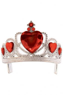 KINGS AND QUEENS -  PRINCESS TIARA - RED AND SILVER (CHILD)