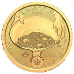 KLONDIKE GOLD RUSH - 1 OUNCE PURE GOLD COIN -  2021 CANADIAN COINS