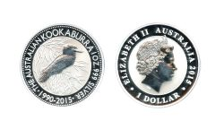 KOOKABURRA -  KOOKABURRA - 1 OUNCE FINE SILVER COIN -  2015 AUSTRALIA COINS