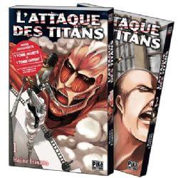 L'ATTAQUE DES TITANS -  PACK DÉCOUVERTE TOMES 01 ET 02 (FRENCH V.)