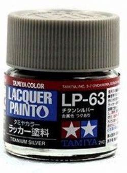 LACQUER PAINT -  TITANIUM SILVER (1/3 OZ) LP-63