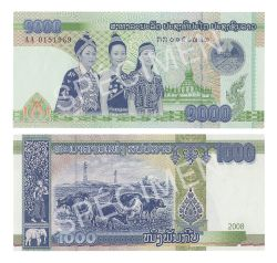 LAOS -  1000 KIP 2008 (UNC)