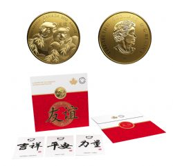 LASTING GIFT -  PANDAS, A GOLDEN GIFT OF FRIENDSHIP -  2019 CANADIAN COINS 03