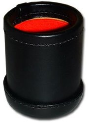 LEATHER & CLOTH DICE CUP, 4.25