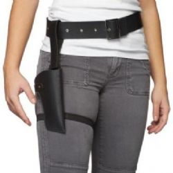 LEATHER LIKE TIGHT BELT HOLSTER SET ADJUSTABLE