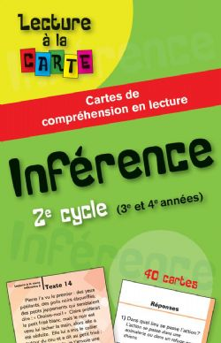 LECTURE À LA CARTE -  INFÉRENCE 2E CYCLE (3E ET 4E ANNÉES)