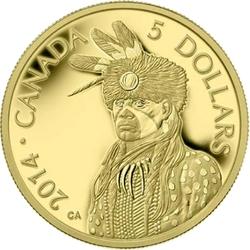 LEGEND OF NANABOOZHOO -  PORTRAIT OF NANABOOZHOO -  2014 CANADIAN COINS