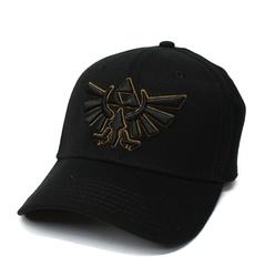 LEGEND OF ZELDA, THE -  BLACK TRIFORCE CAP - BLACK