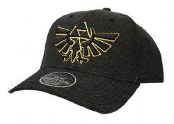 LEGEND OF ZELDA, THE -  BLACK TRIFORCE CAP - CHARCOAL